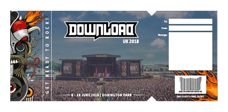 Download Festival  Gift Certificate Download