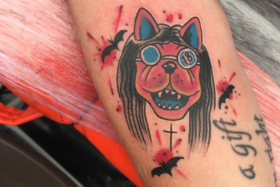 Check out the awesome Download Dog tattoos inked by Old Sarum at #DL2018