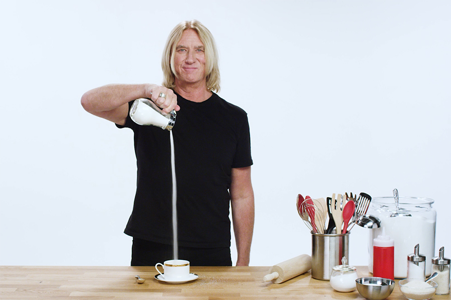 Pancake Day with Def Leppard! Watch Joe Elliott pour some sugar on, well, EVERYTHING
