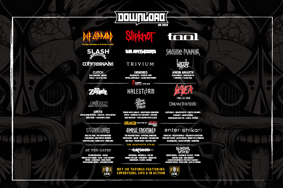 Check out the Download 2019 Line Up