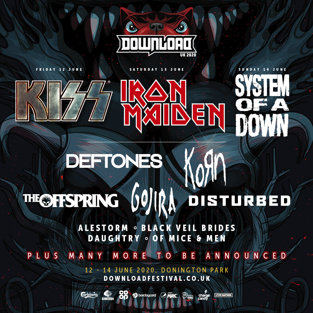 Download Festival It S Time For Your First Dl2020 Announcement Featuring Kiss Iron Maiden Soad And More