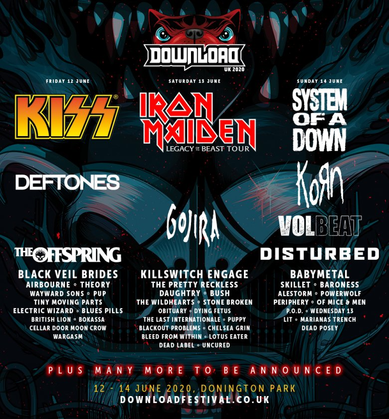 Bildergebnis für download festival line up 2020