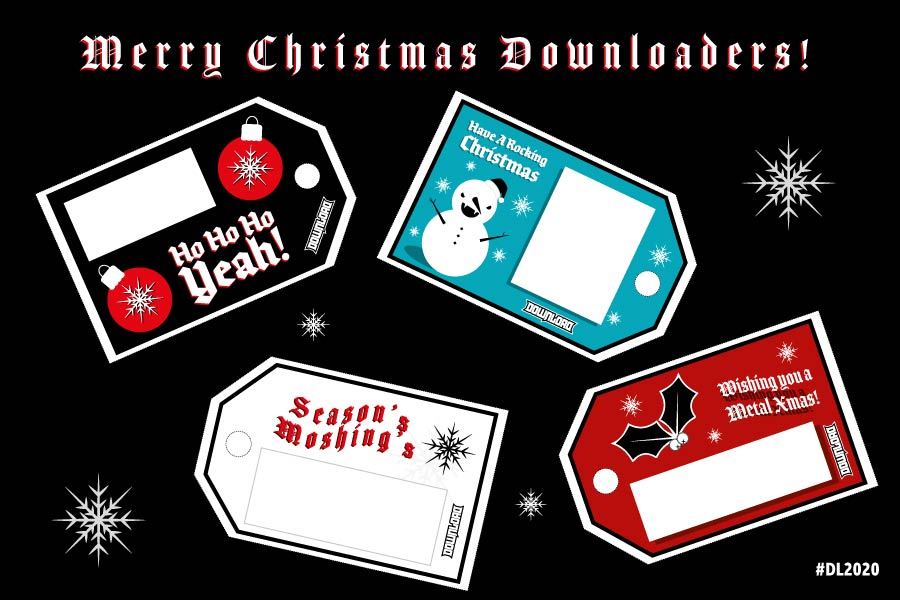 Print out our Download Festival Christmas Gift Tags