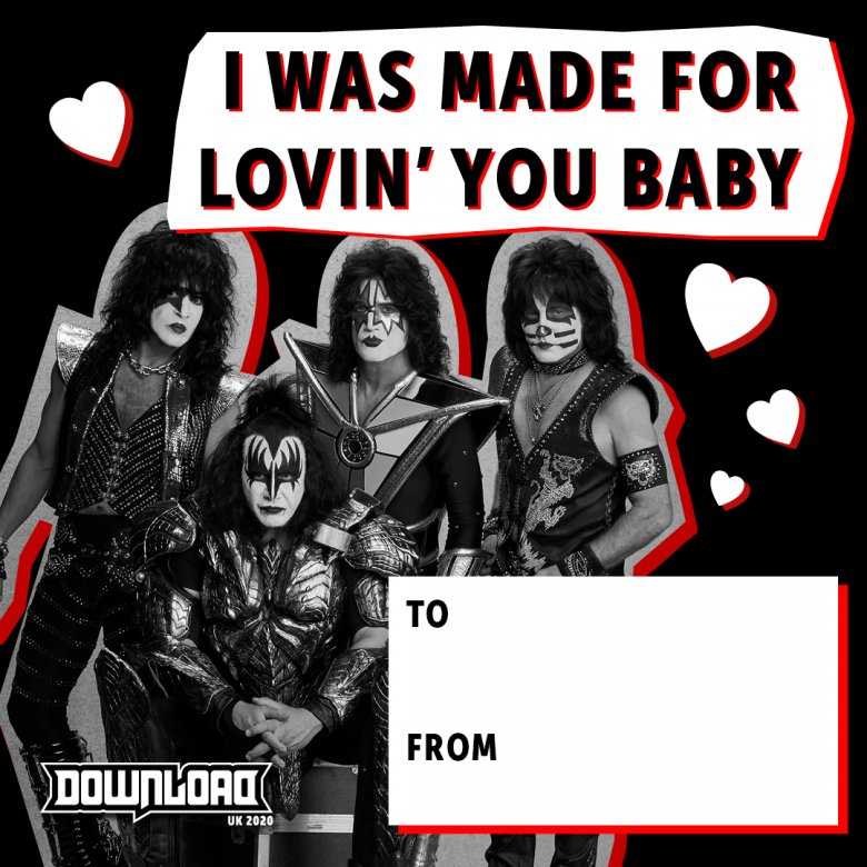KISS Valentine's Day Card