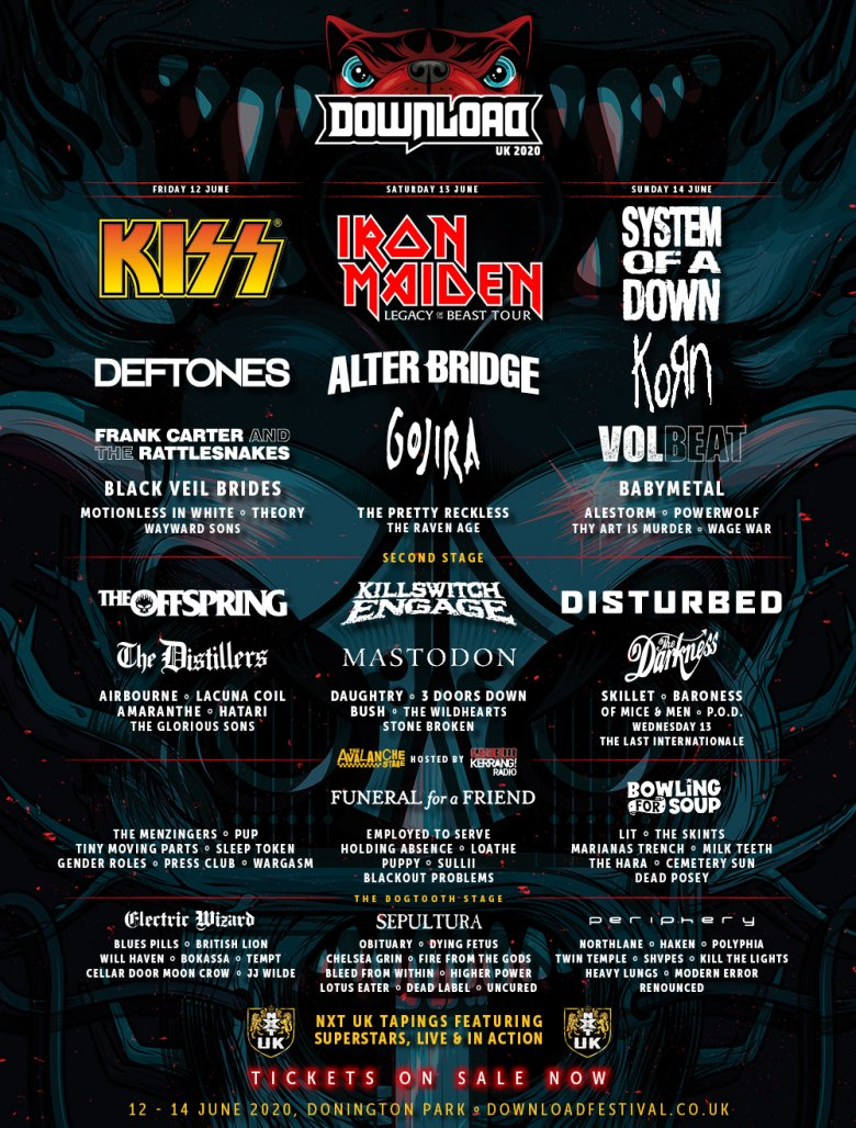 Download Festival 40 New Artists Added To Your Download 2020 Line Up Download Festival