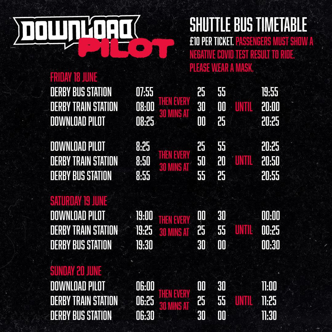 Shuttlebus Timetable